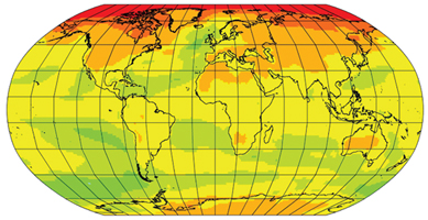 atmospheric CO2 map